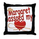 Margaret Lassoed My Heart Throw Pillow