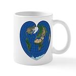World Map Heart: coffee time Mug
