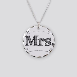 His & Hers Necklace Circle Charm