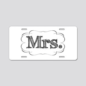 His & Hers Aluminum License Plate