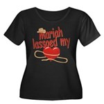 Mariah Lassoed My Heart Women's Plus Size Scoop Ne