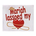 Mariah Lassoed My Heart Throw Blanket