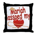 Mariah Lassoed My Heart Throw Pillow