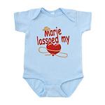 Marie Lassoed My Heart Infant Bodysuit