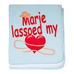 Marie Lassoed My Heart baby blanket