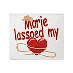 Marie Lassoed My Heart Throw Blanket