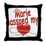 Marie Lassoed My Heart Throw Pillow