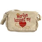 Marilyn Lassoed My Heart Messenger Bag