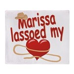 Marissa Lassoed My Heart Throw Blanket