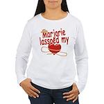 Marjorie Lassoed My Heart Women's Long Sleeve T-Sh
