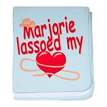 Marjorie Lassoed My Heart baby blanket