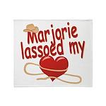 Marjorie Lassoed My Heart Throw Blanket