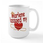 Marlene Lassoed My Heart Large Mug