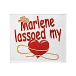 Marlene Lassoed My Heart Throw Blanket