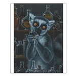 Pirate Lemur Small Poster