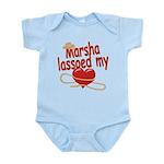 Marsha Lassoed My Heart Infant Bodysuit