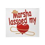 Marsha Lassoed My Heart Throw Blanket