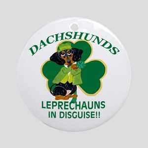 Dachshunds Are Leprechauns In Ornament (Round)