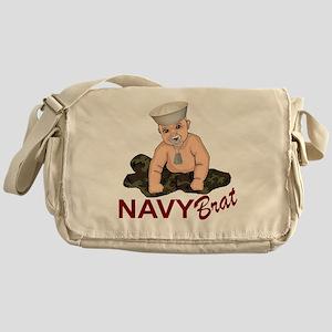 Navy Brat Messenger Bag