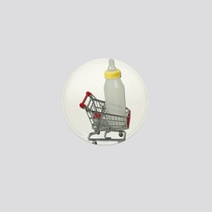 Shopping Cart Baby Bottle Mini Button