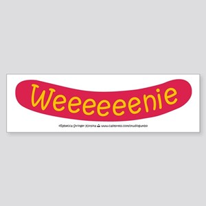 Weenie - Hot dog Bumper Sticker