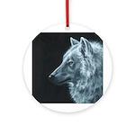 Spirit Wolf Ornament (Round)