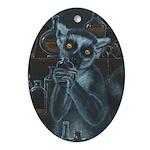 Rum Loving Lemur Ornament (Oval)