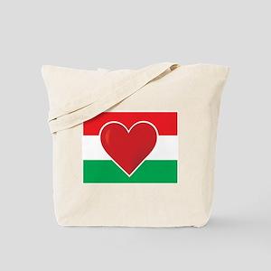 Heart Hungary Flag Tote Bag