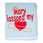 Mary Lassoed My Heart baby blanket