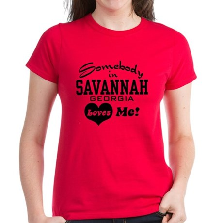Somebody In Savannah Loves Me Women's Dark T-Shirt