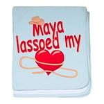 Maya Lassoed My Heart baby blanket