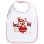 Maya Lassoed My Heart Bib