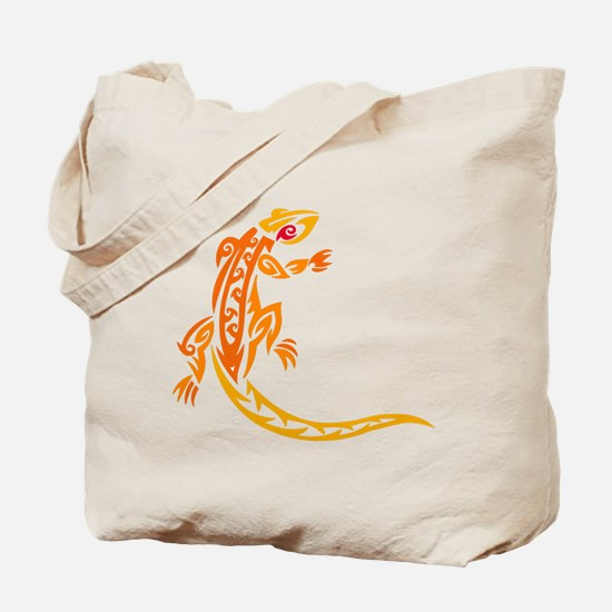 Lizard, Sunset Colors, Tribal, Tote Bag