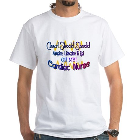CARDIAC NURSE CLEAR SHOCK SHOCK BLUE T-Shirt