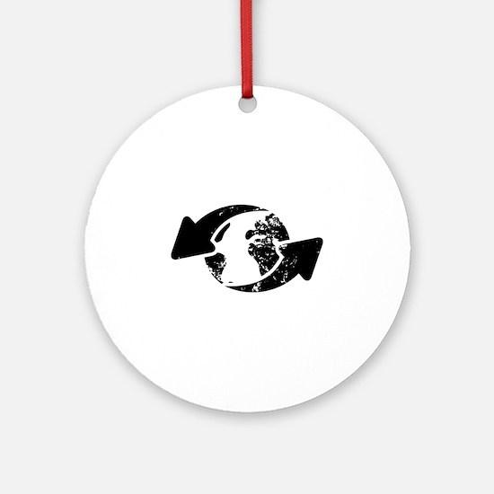 Go Green Ornament (Round)