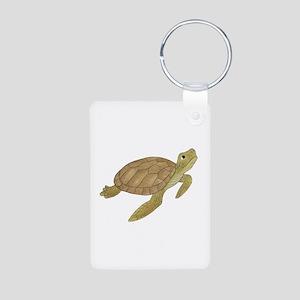Sea Turtle Aluminum Photo Keychain