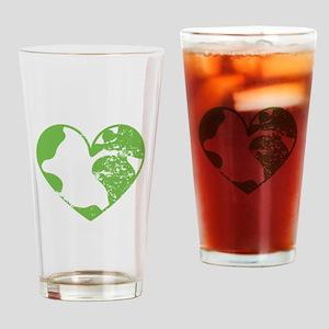 Heart Earth Drinking Glass