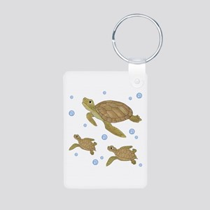 Sea Turtle Aluminum Photo Keychain