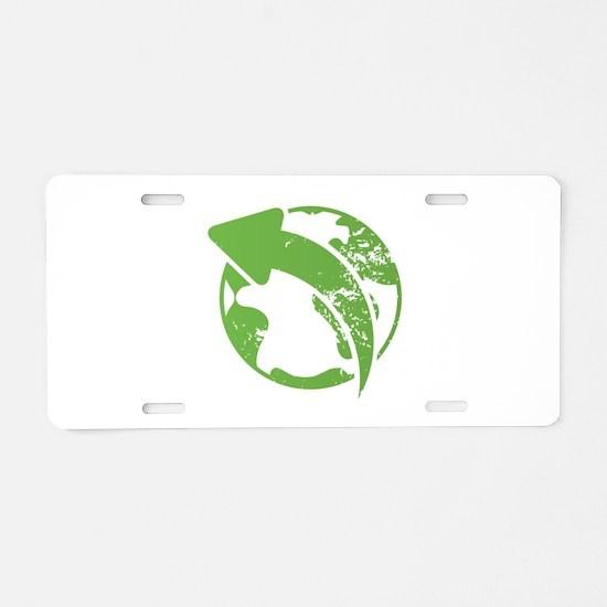 Eco Earth Aluminum License Plate