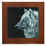 Spirit Wolf Framed Tile