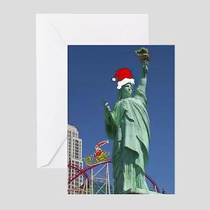 Vegas Statue of Liberty & Santa Christmas Cards 6