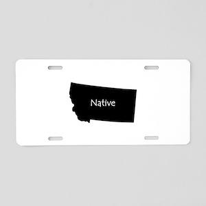 Montana Native Aluminum License Plate