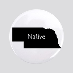 "Nebraska Native 3.5"" Button"