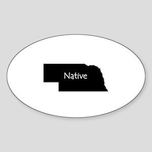 Nebraska Native Sticker (Oval)