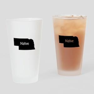 Nebraska Native Drinking Glass