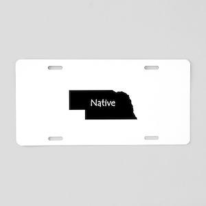 Nebraska Native Aluminum License Plate