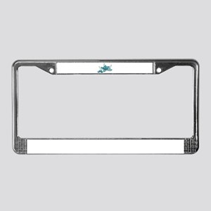 Starfish Glass Sand Dollars License Plate Frame