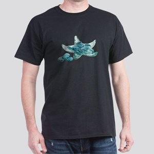 Starfish Glass Sand Dollars Dark T-Shirt