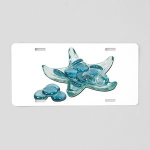 Starfish Glass Sand Dollars Aluminum License Plate