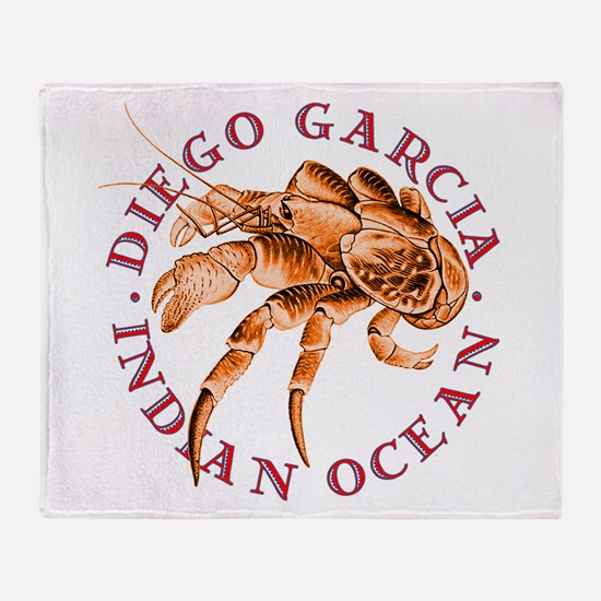 Red Coconut Crab Throw Blanket